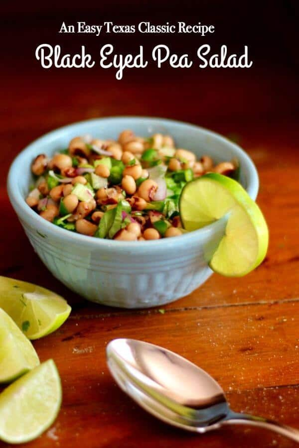 Easy black eyed pea salad recipe with fresh cilantro is a Texas classic. Such a good side dish with grilled meat!