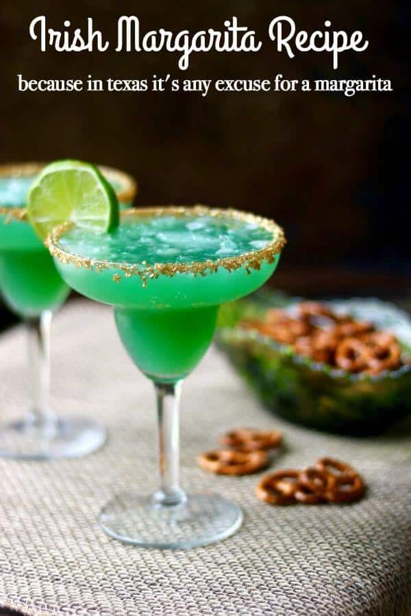 Enjoy this fruity Irish Margarita Cocktail Recipe for St Paddy's day! From RestlessChipotle.com
