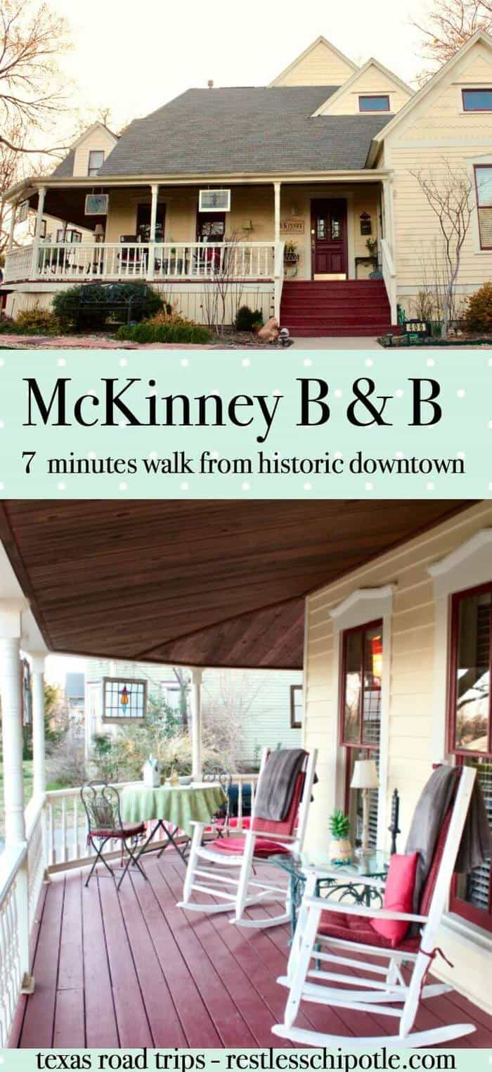 McKinney Bed & Breakfast is located within walking distance to the unique shopping and dining experiences of historic Downtown McKinney Texas. Great for romantic getaways! From RestlessChipotle.com