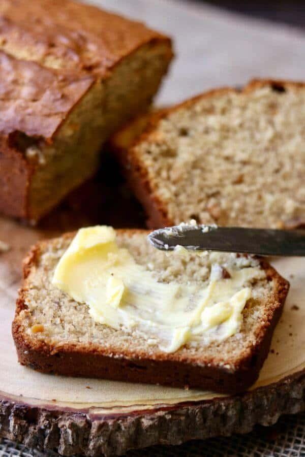 Vintage peanut butter banana bread recipe - Savannah Bread - from 1940s. RestlessChipotle.com
