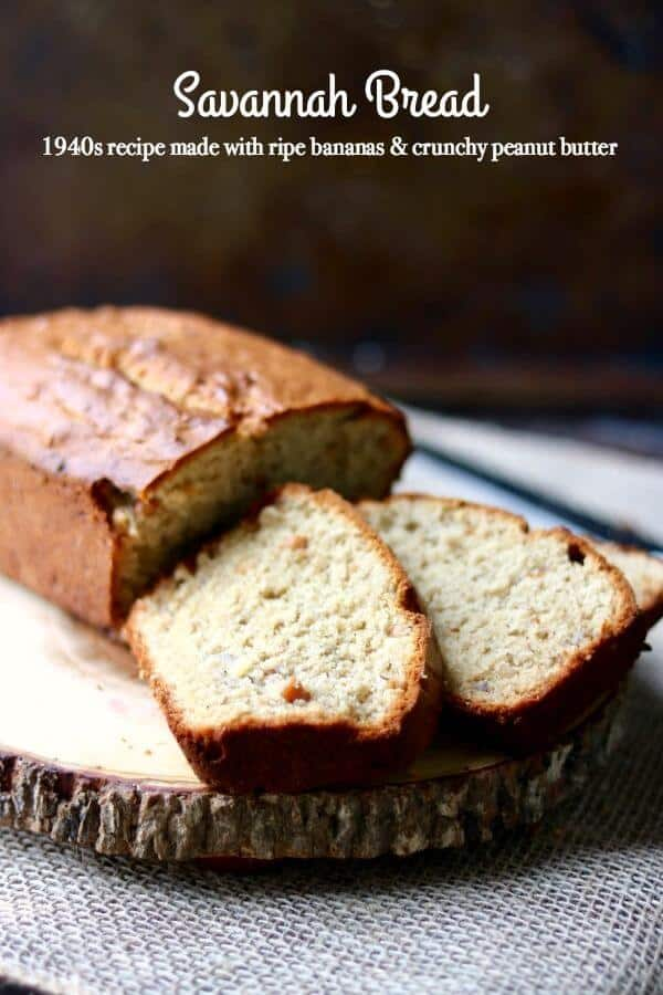 This vintage recipe for peanut butter banana bread was called Savannah Bread when I was growing up. Very unique! From RestlessChipotle.com
