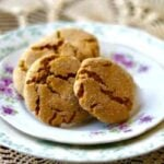 Easy Peanut Butter Molasses cookies are perfect for lunch box treats! From RestlessChipotle.com