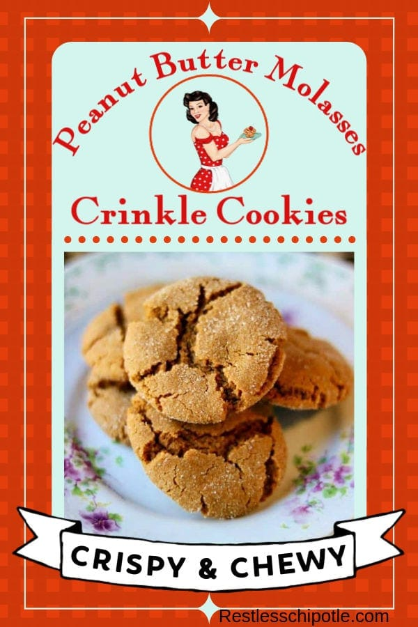 Easy, homemade peanut butter cookies are crispy and chewy with crinkly tops. Old fashioned cookies that freeze well and ship well. No chilling time needed! #chewy #easy #best  #restlesschipotle