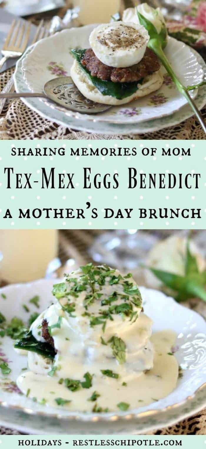 Tex-Mex Eggs Benedict is a tasty twist on the classic recipe.  Tips on how to make the perfect poached egg, too! Great brunch idea! From RestlessChipotle.com