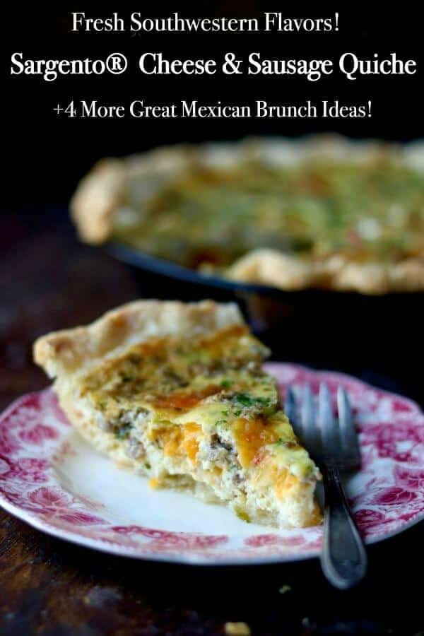 Easy southwestern sausage quiche is made even better with Sargento cheese! From RestlessChipotle.com
