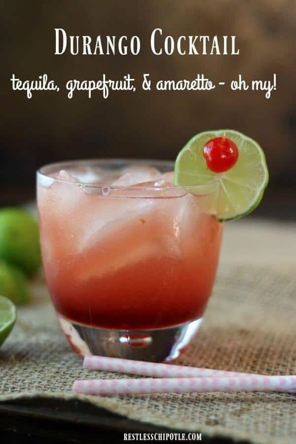 A durango cocktail recipe is similar to a paloma but with the addition of amaretto to smooth out the flavor.Perfect brunch beverage! From RestlessChipotle.com