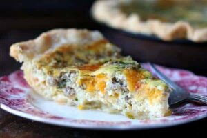 cheese and sausage quiche recipe is quick and easy. From RestlessChipotle.com