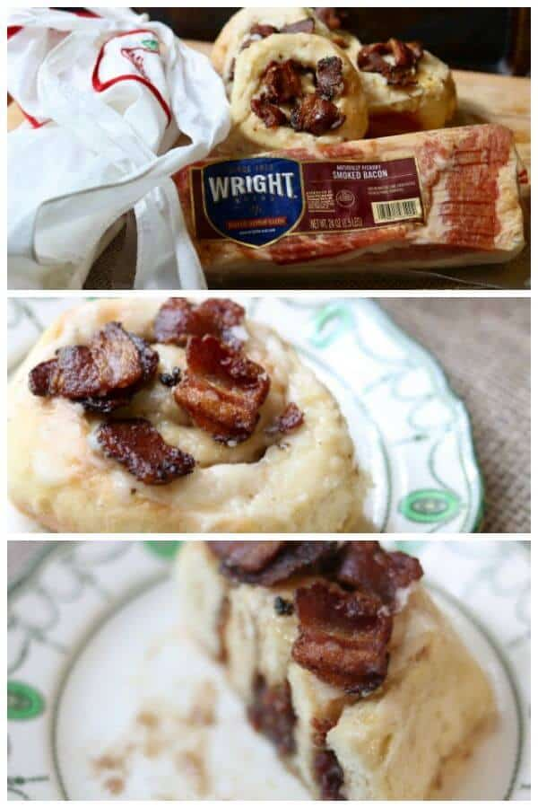 Bacon cinnamon rolls are just. SO. GOOD. from restlesschipotle.com