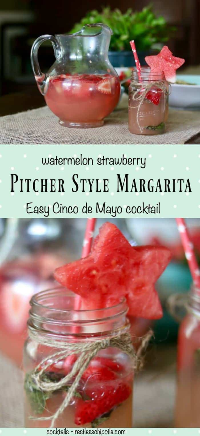 Easy pitcher style margaritas keep the party going on Cinco de Mayo! From RestlessChipotle.com