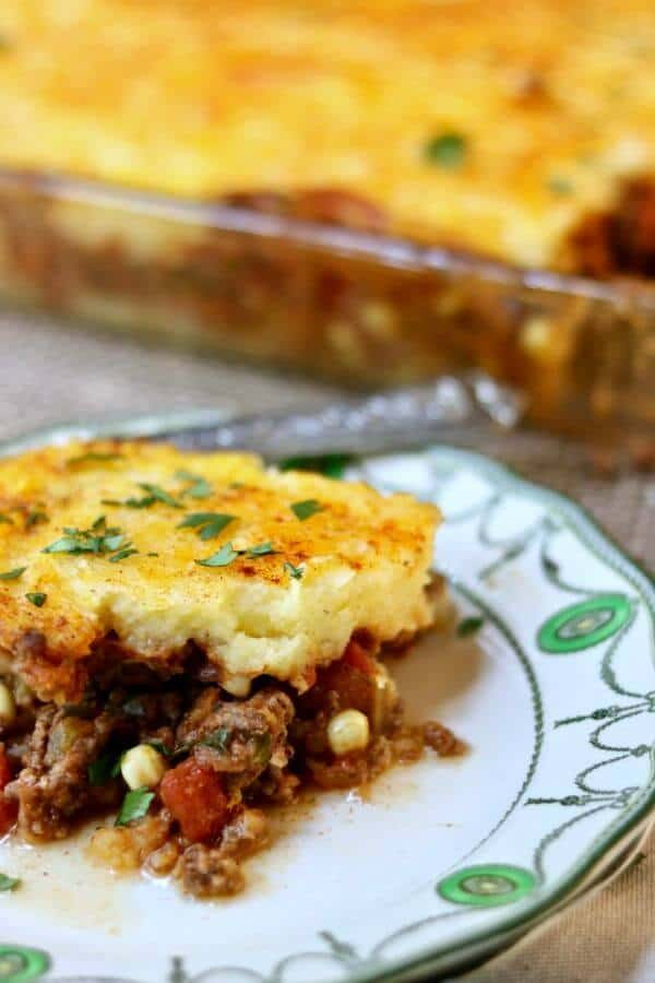 Classic tamale pie recipe is a family favorite casserole. So easy! From RestlessChipotle.com