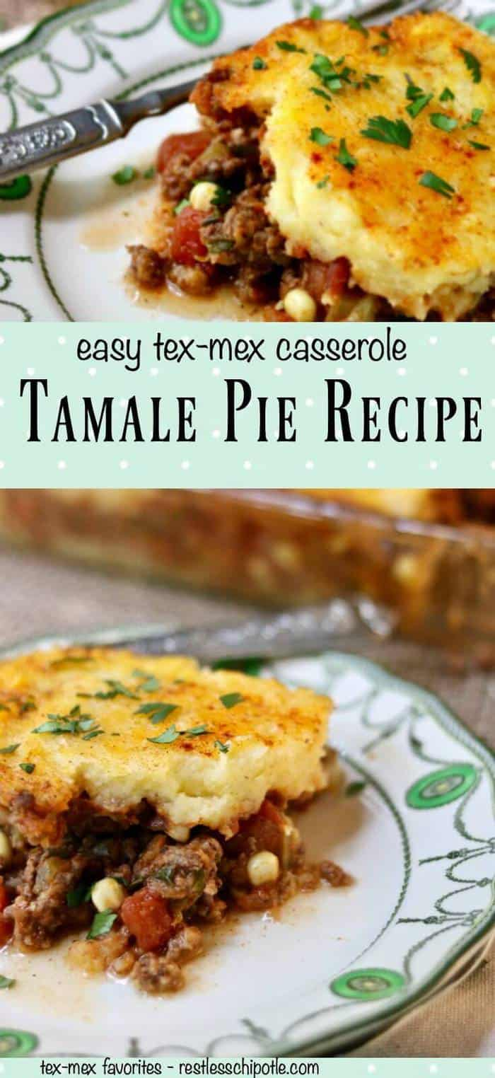 This easy Tex-Mex Tamale Pie recipe has been a favorite of families everywhere for decades - providing a budget friendly comfort food to busy home cooks. From RestlessChipotle.com