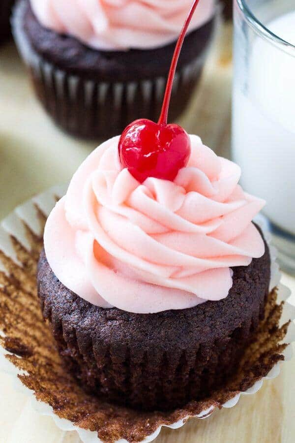 chocolate cherry cupcakes recipe starts with rich, moist chocolate ...
