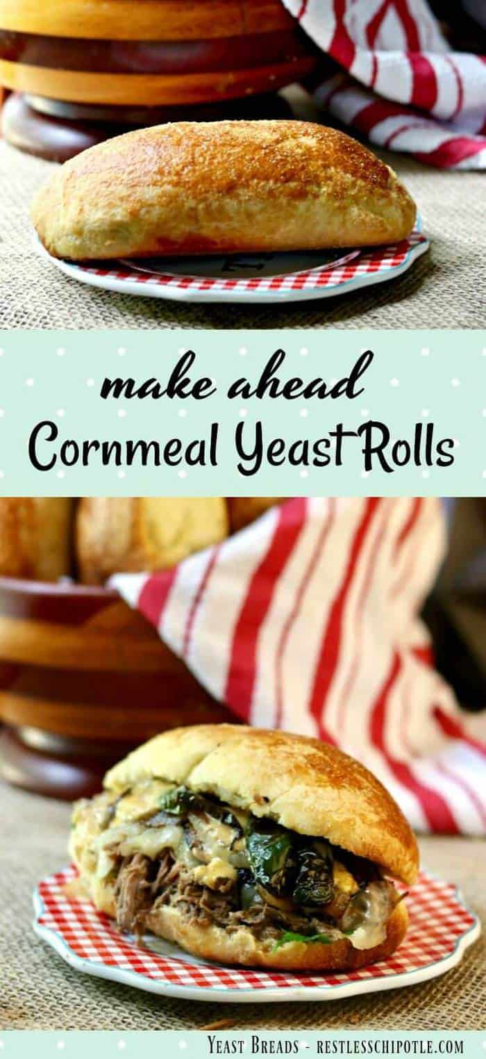 Buttery and lightly sweetened with honey, this cornmeal yeast rolls recipe makes the perfect sandwich rolls for all kinds of meat from bbq to grilled steak. From RestlessChipotle.com
