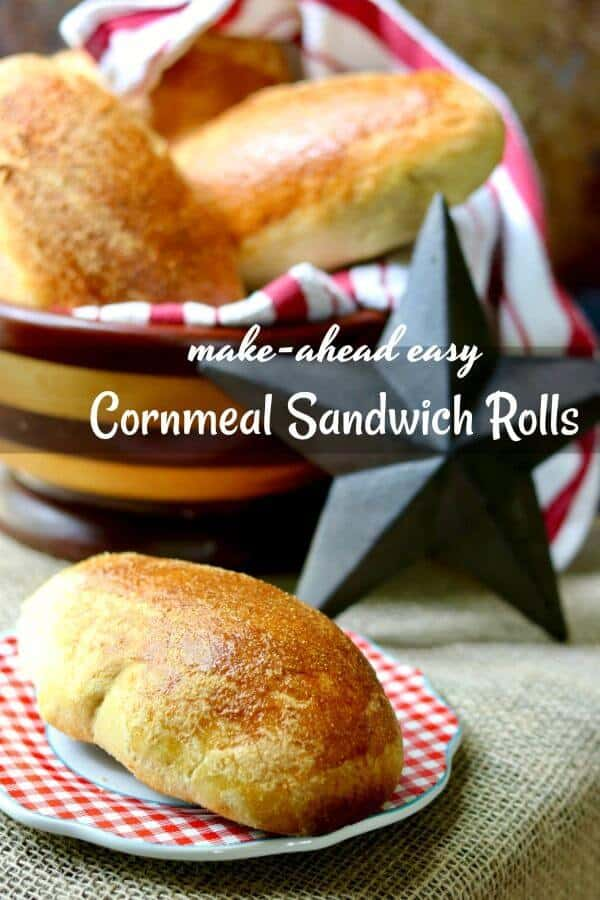Easy cornmeal yeast rolls recipe makes perfect sandwich rolls. From RestlessChipotle.com
