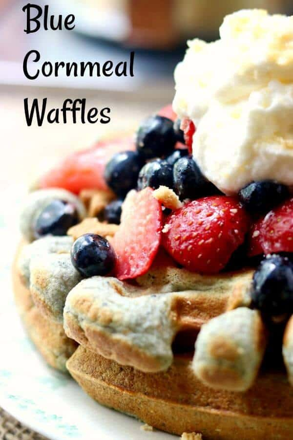 Crispy and fluffy, these blue cornmeal waffles are hearty and delicious with a wholesome, nutty flavor that's perfect with everything from maple syrup to fresh fruit. From RestlessChipotle.com