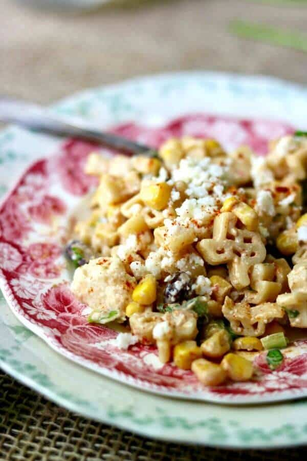 Tex Mex pasta salad is an easy side dish recipe the whole family will love. RestlessChipotle.com