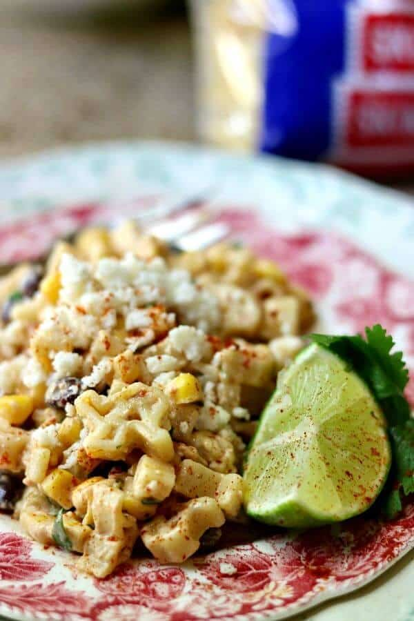Make this easy Tex Mex Pasta salad into a main dish by adding grilled chicken or beef. YUM! From RestlessChipotle.com
