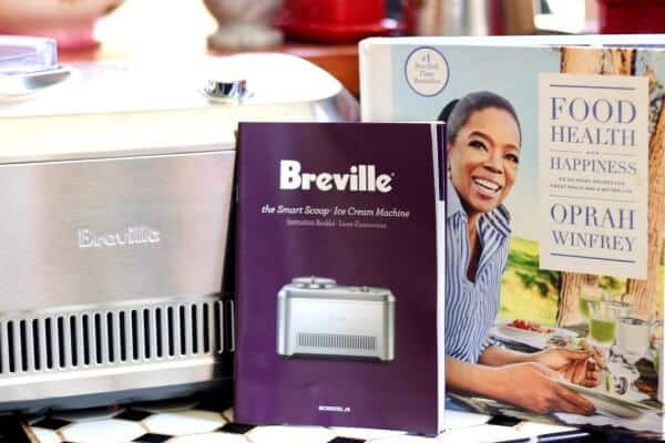 Peach sorbet is so easy with the Breville Smart Scoop and Oprah Winfrey's new book! From RestlessChipotle.com
