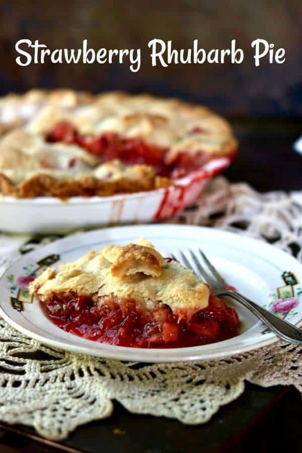 Best ever! Old fashioned strawberry rhubarb pie recipe is a perfect combination of sweet and tangy with a gorgeous bright crimson filling surrounded by buttery pastry. From RestlessChipotle.com