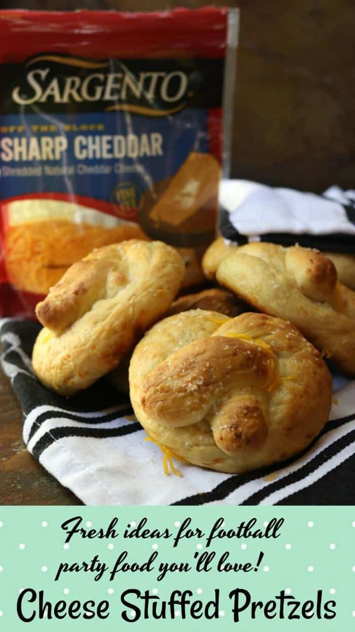 If you're looking for football party food we've got you. Easy cheese stuffed pretzels recipe and 4 more easy fall recipes and dinner ideas for appetizers, sides, & dinners. Skipping a step makes this recipe easy! From RestlessChipotle.com