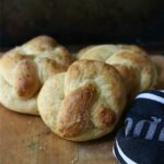 cheddar cheese stuffed pretzels are so good with soups and stews! from RestlessChipotle.com