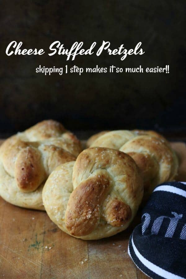 If you're looking for football party food we've got you. Easy cheese stuffed pretzels recipe and 4 more easy fall recipes for appetizers, sides, & dinners. From RestlessChipotle.com
