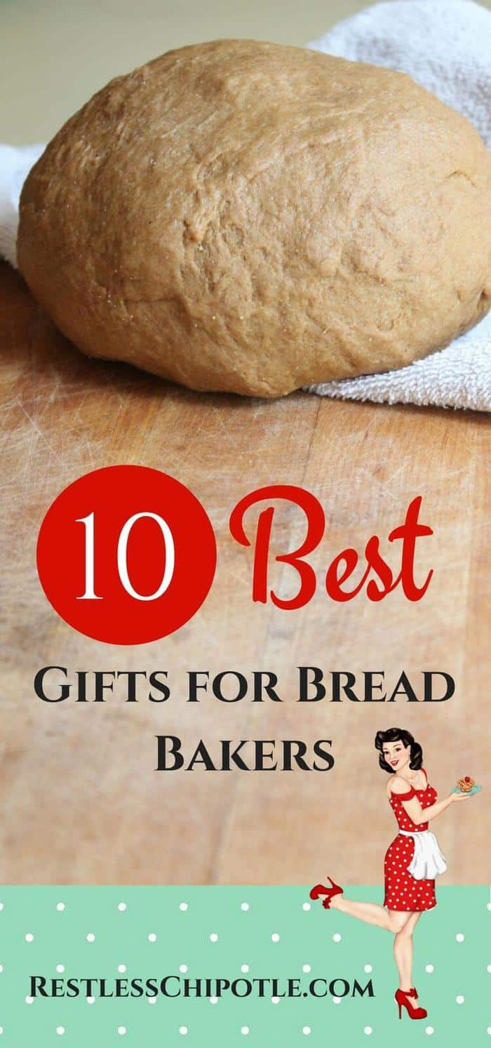 Whether you're looking for a birthday gift or a holiday gift or a just-because gift for your favorite bread baker (even if that's yourself) you'll find something in this list of the 10 best gifts for bread bakers. I've tried to include a variety of items to fit every possible budget and I've made notes about whether something was good for beginners or better for advanced bread bakers. From RestlessChipotle.com #Bread #giftideas #holidays