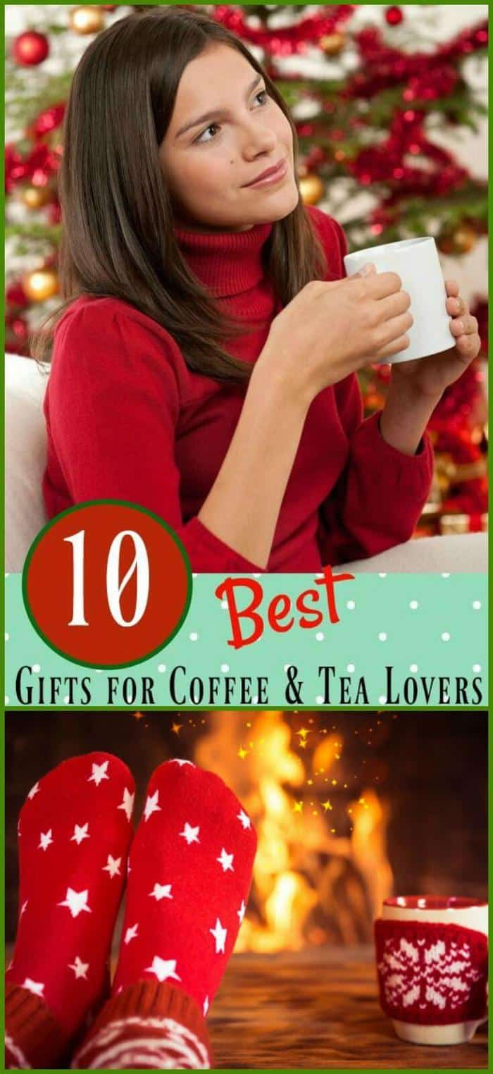 The 10 best gifts for coffee lovers is a gift guide that will make the coffee aficionado in your life very happy! Ideas for best gifts for tea lovers, too! From RestlessChipotle.com  #Coffee #Christmas #Giftideas