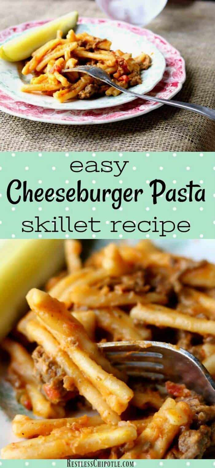 Cheeseburger pasta skillet is so easy using the Ninja Cooking System with Auto-iQ!  (#Sponsored )Your favorite cheeseburger ingredients in a creamy, gooey pasta dish! #NinjaDeliciousDoneEasy #NinjaPartner #QuickDinnerIdeas