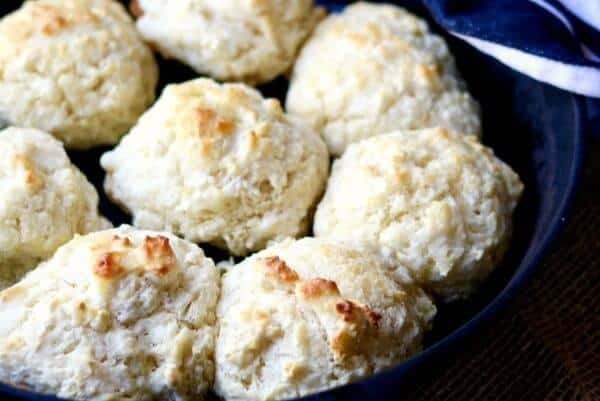 Drop Biscuits in an iron skillet right out of the oven feature image