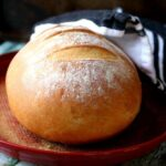 Easy rustic bread with a crispy crust - recipe image