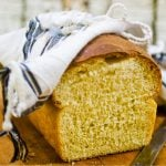 loaf of buttermilk bread sliced to show interior