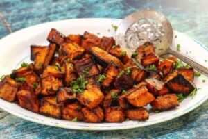 Oven Roasted Sweet Potatoes: Sweet & Spicy