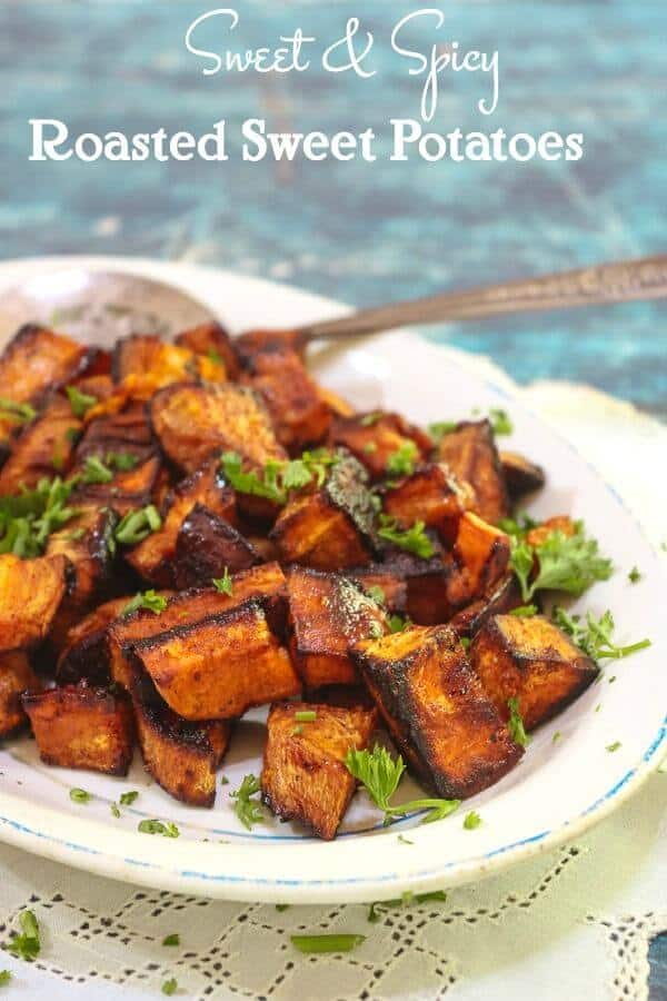 Sweet Spicy Oven Roasted Sweet Potatoes Cubes Restless Chipotle