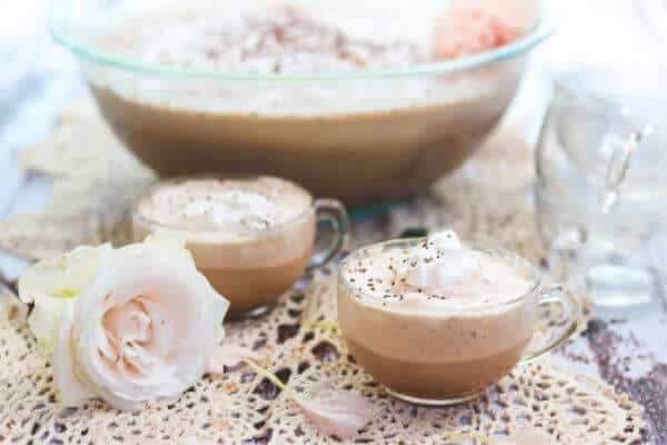 Feature image -two cups coffee punch with whipped cream on top.