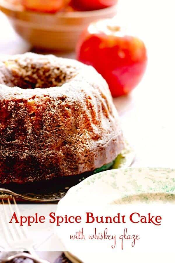Apple cake with apples in the background