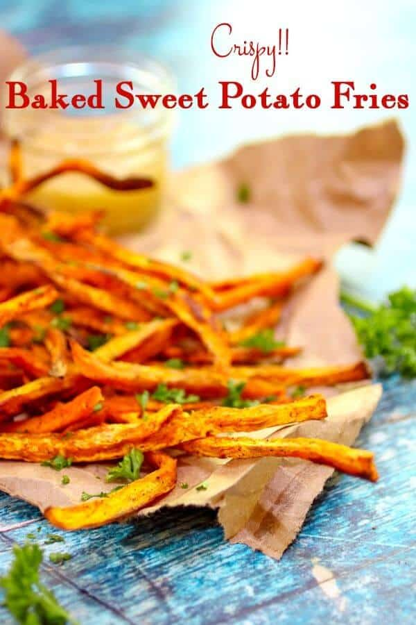 sweet potato fries title image with overlay.