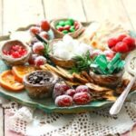 Christmas Dessert Platter with fruit and chocolate