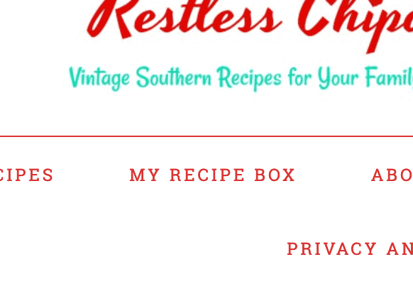 A screen shot of the recipe box link.