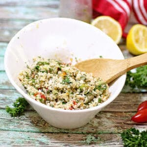 Small image of cauliflower salad for recipe card