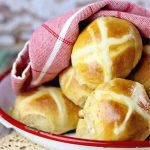 Closeup of the buns showing the cross detail.