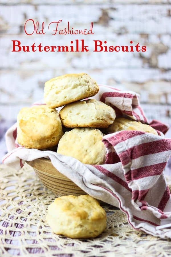 Easy buttermilk biscuits rise up tall, buttery, and flaky thanks to a unique mixing technique. This simple southern recipe goes together in minutes.