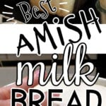 Bread collage with text overlay for Pinterest