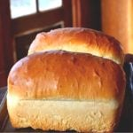 amish white bread loaves on table