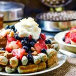 feature image blue cornmeal waffles
