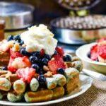 feature image blue cornmeal waffles