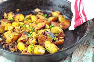 closup of fried potatoes feature image