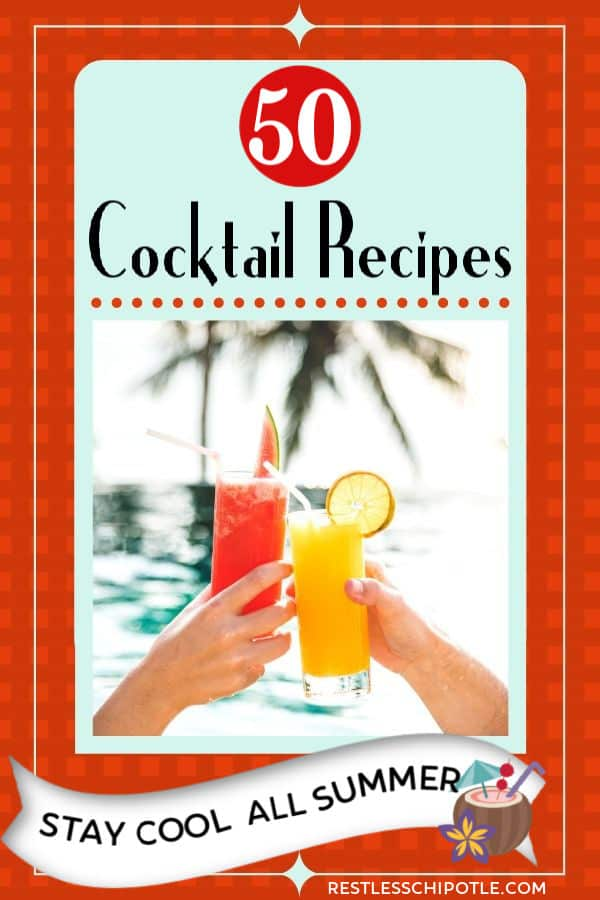two people holding cocktails in a tropical setting - title image