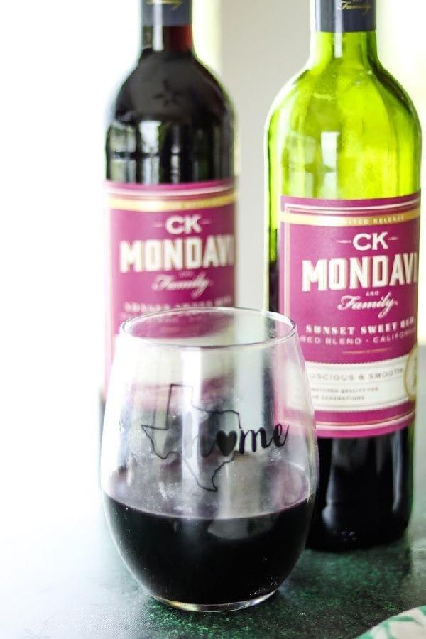 2 bottles of CK Mondavi and Family  Sunset Sweet Red Blend wine.
