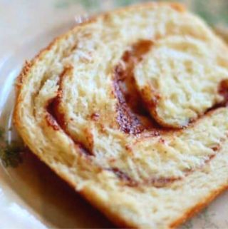 slice of cinnamon swirl bread